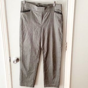 89th & Madison Gray Pull On Dress Ankle Pants M